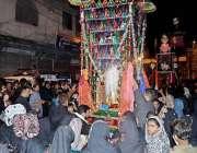راولپنڈی: گدی نشین شاہ چن چراغ سید اعتبار بخاری کے گھر سے ذوالجناح کا ..