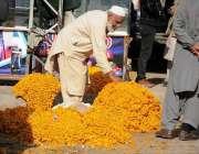 راولپنڈی: کرسمس ڈے کے قریب آتے ہی پھول فروشوں کی چاندی، ایک معمر شخص ..
