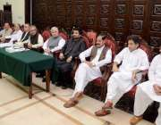 پشاور: نامزد صدر ڈاکٹر عارف علوی پشاور دورہ کے موقع پر صوبائی اسمبلی ..