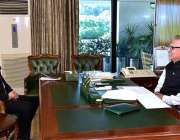 اسلام آباد: صدر مملکت ڈاکٹر عارف علوی سے رکن سندھ اسمبلی عباس جعفری ..