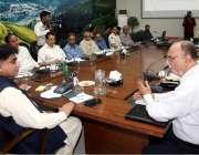 لاہور: سیکرٹری پرائمری اینڈ سیکنڈری ہیلتھ علی بہادر قاضی محکمانہ اجلاس ..