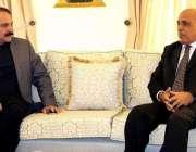 اسلام آباد: گورنر پنجاب ملک محمد رفیق رجوانہ سے وزیر مملکت (کیڈ) ڈاکٹر ..