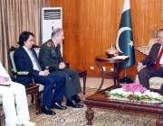 اسلام آباد: صدر مملکت ممنون حسین سے ترک فوج کی چیف جنرل سٹاف ہولو سی ..