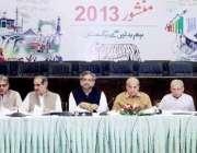 لاہور: مسلم لیگ (ن) کے صدر محمد شہباز شریف پارٹی کے پارلیمانی بورڈ کے ..