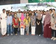 لاہور: میر پور یونیورسٹی آف سائنس اینڈ ٹیکنالوجی آزاد کشمیر کے طلباء ..