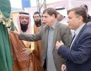 مظفر آباد: سپیکرقانون ساز اسمبلی شاہ غلام قادر ٹھوٹھہ کے مقام پر مہاجرین ..