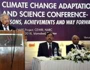 اسلام آباد: سینیٹر نثار میمن موسمیاتی تبدیلی اصلاحات بارے منعقدہ تقریب ..