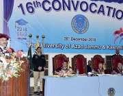 مظفر آباد: صدر آزاد کشمیر چانسلر سردار مسعود خان جامعہ کشمیر کے16ویں ..