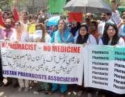 لاہور: پاکستان فارماسسٹ ایسوسی ایشن کے زیر اہتمام اپنے مطالبات کے حق ..
