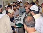 کوئٹہ:نا معلوم افراد کی فائرنگ سے ہلاک ہونیوالے جمعیت علماء اسلام کے ..