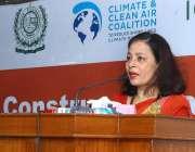 اسلام آباد: نیپال کی سفیر ایچ ای سیوا لمسل ادیکاری ایک ورکشاپ کے موقع ..