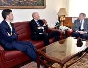 اسلام آباد: وزیر اعظم کے مشیر عبدالرزاق داؤد سے ٹیلی نار گروپ کے سی ..