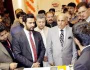اسلام آباد: گورنر پنجاب ملک محمد رفیق رجوانہ انٹرنیشنل ایکسپو2018میں ..