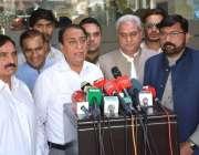 فیصل آباد: وزیر مملکت برائے خزانہ رانا محمد افضل خان میڈیا سے گفتگو ..