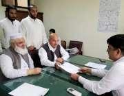 لاہور: تحریک انصاف کے حلقہ این اے124کے ضمنی انتحابات کے لیے نامزد امیدوار ..