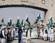جمرود: راجگل متاثرین اپنے مطالبات کے حق میں نکالی گئی ریلی میں پاکستان ..
