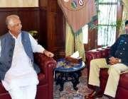 پشاور: گورنر خیبر پختونخوا انجینئر اقبال ظفر جھگڑا سے آئی جی پی خیبر ..