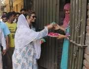 لاہور: تحریک انصاف کی حلقہ این اے125سے امیدوار ڈاکٹر یاسمین راشد پارٹی ..