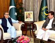 اسلام آباد: صدر مملکت ڈاکٹر عارف علوی سے رکن قومی اسمبلی ریاض فتیانہ ..