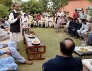 اسلام آباد: حلقہ این اے54سے مسلم لیگ ن کے امیدوار انجم عقیل خان پنڈہون ..