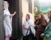 لاہور: مسلم لیگ (ق) پنجاب کی جوائنٹ سیکرٹری تمکین آفتاب ملک ڈور ٹو ڈور ..