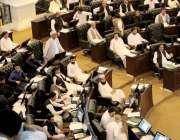 پشاور: نو منتخب ایم پی اے خیبر پختونخوا حلف اٹھانے کے بعد صوبائی اسمبلی ..