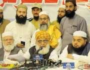 اسلام آباد: مولانا فضل الرحمان قومی مشاورتی کانفرنس کے میڈیا سے گفتگو ..