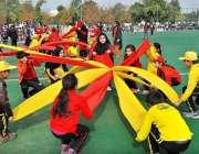 """اسلام آباد: وفاقی دارالحکومت مختلف سکولوں کے سٹوڈنٹس """"SHOK"""" سپورٹس .."""