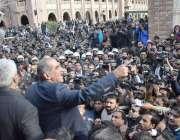 لاہور: مسلم لیگ (ن) کے رہنما خواجہ سعد رفیق لاہور ہائیکورٹ کی جانب سے ..