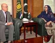 راولپنڈی: وفاقی وزیر برائے دفاعی پیداوار زبیدہ جلال سے ازبکستان کے ..
