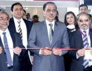 لاہور: صوبائی وزیر انڈرسٹریز شیخ علاؤالدین ایکسپو سنٹر میں14ویں پاکستان ..