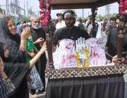 لاہور: نویں محرم الحرام کے موقع پرقصرہ بتول شادمان کے مرکزی جلوس اپنے ..