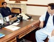اسلام آباد: وزیر اعظم آزاد کشمیر راجہ فاروق حیدر خان سے سابق امیدوار ..