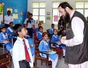 اسلام آباد: وزیر مملکت انجینئر بلیغ الرحمن اسلام آبادماڈل سکول کے دورہ ..