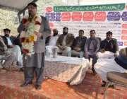 لاہور: ریل مزدور اتحاد ملحقہ پاکستان ریولے لیبر یونین کی تقریب سے تحریک ..