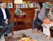 کراچی: گورنر سندھ محمد زبیر گورنر ہاؤس میں ٹی وی کے شہرت یافتہ فنکار ..