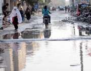 اسلام آباد: غوری ٹاؤن روڈ پر گندا پانی جمع ہے جس سے اہل علاقہ کو پریشانی ..