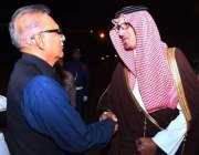 مدینہ: صدر مملکت ڈاکٹر عارف علوی کا مدینہ پہنچنے پر ڈپٹی گورنر مدینہ ..