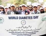 لاہور: ڈی جی ہیلتھ سروسز ڈاکٹر منیر احمد ذیابطیس کے عالمی دن کے حوالے ..