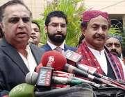 کراچی: پی کی آئی رہنما عمران اسماعیل ، علیم عادل شیخ و دیگر ارکا سندھ ..