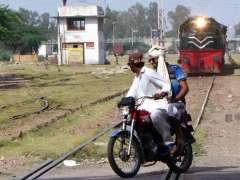 SARGODHA: A motorcyclist crossing railway track as a train plying on the same track near Railway Station may cause any mishap and needs the attention of concerned authorities.