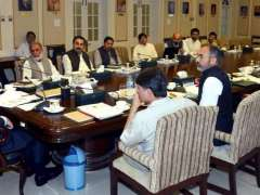 PESHAWAR:  KPK Caretaker Chief Minister Justice (R)Dost Muhammad Khan presiding over a meeting on contingency plan to meet the expected damages of monsoon at CM Secretariat.