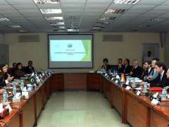 ISLAMABAD: Chairman Board of Investment, Haroon Sharif in a meeting with German business delegation at BOI.