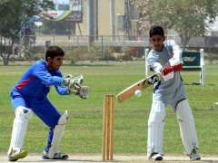 MULTAN: A view of cricket match played between FG Boys Public School and Government Muslim High School teams during PCB National U16 Schools Cricket Championship A.H Kardar Cup Season-2 at Shafqat Sports Complex.
