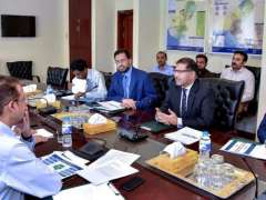 ISLAMABAD: Minister for Energy Syed Ali Zafar in a meeting with representatives of APTMA.