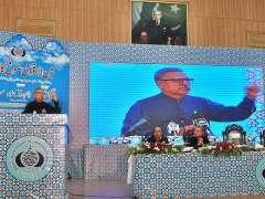 MULTAN: President Dr. Muhammad Arif Alvi addressing during the International Sufi Conference at BZU.