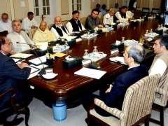 PESHAWAR: Caretaker Chief Minister Khyber Pakhtunkhwa Justice Retd. Dost Muhammad chairing provincial cabinet meeting at CM Secretariat.