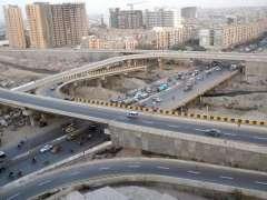 KARACHI:  Ariel View of Lyari Expressway.