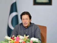 ISLAMABAD: Prime Minister of Pakistan Imran Khan addressing the Nation.