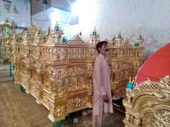 CHINIOT: Devotees busy in preparing Tazia Of Chourraian taken out on